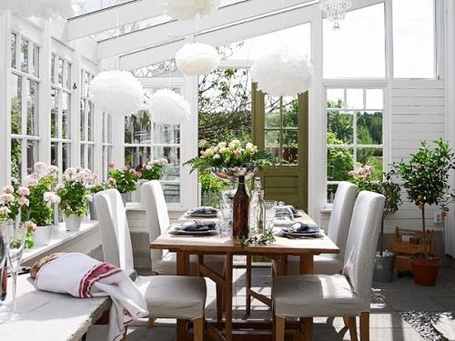 dining room atrium sunroom glass ceiling table chairs